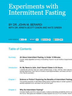 Experiments with Intermittent Fasting