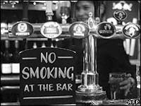 No smoking at the bar