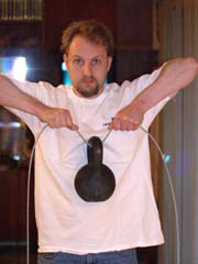 Upright kettlebell row