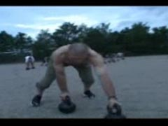 Walking with kettlebells