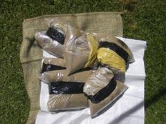 Mini Sandbags Taped Up