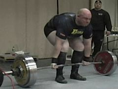 Stinn preparing to deadlift