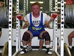 Jack Reape squatting