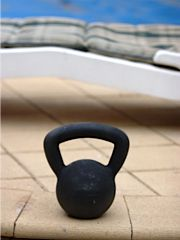 Kettlebell by the Pool