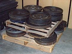 Used plates (from Lifestyle Fitness)