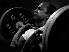 Precious McKenzie (powerlifter and Olympic weightlifter) by David Roberts