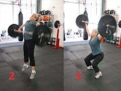 Kelley Hinds Demonstrating the Barbell Snatch