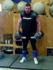 Karl Gillingham deadlifting 2 Inch replicas