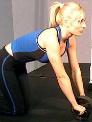 Kneeling, using Ab Roller