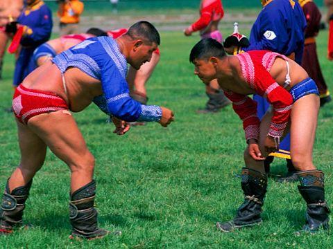 Mongolian Wrestling. Photo © Bruno Morandi/Robert Harding.