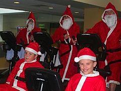 Preparing for the annual Santa Fun Run, Guernsey