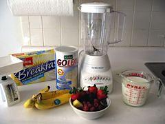 Protein Shake Ingredients. Image via Jamie Riehle.