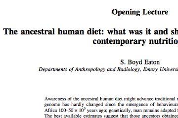 Ancestral Human Diet