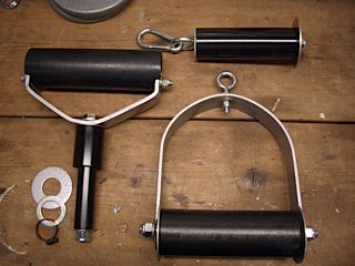 Parts for one of Clay Johnson's Heavy Handles