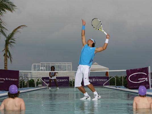 Rafael Nadal on water