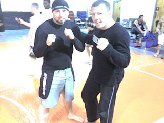 Neal 'Phrost' Fletcher with MMA legend Pat Miletich