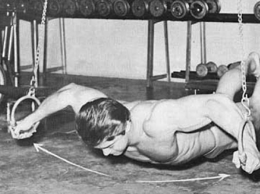 Larry Scott on the rings