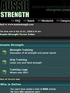 Aussie Strength Forums