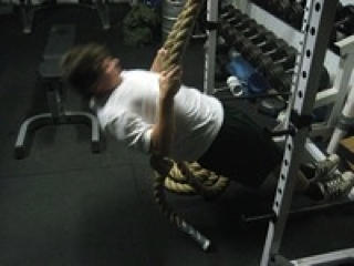 Thick Rope Supine Row