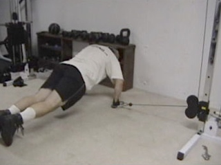 Low Pulley Push-up