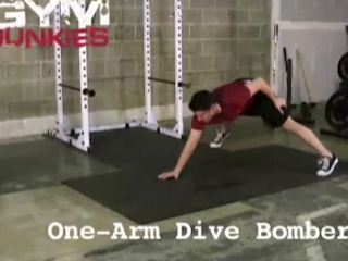 One-armed Dive Bomber Push-up