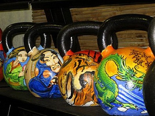 Painted Kettlebells