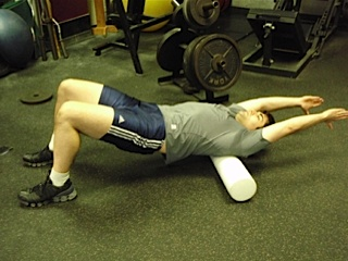 Foam Roller work for the Rhomboids and Traps