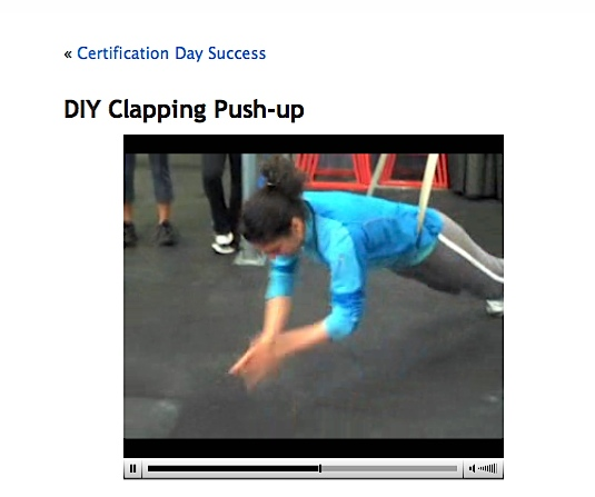 Assisted Clapping Push-Ups