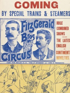 Poster for Fitzgerald Bros' Circus