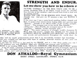 Advertisement for Royal Gymnasium, Leichhardt