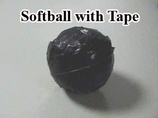 Softball with Tape